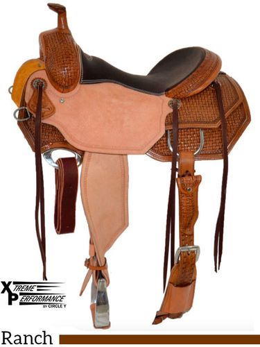 "15"" to 18"" Circle Y XP Hamilton Wide Ranch Saddle 2542 w/Free Pad"