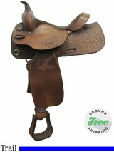 """15"""" Used Big Horn Trail Saddle usbh3063 *Free Shipping*"""