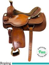 "15"" Used Billy Cook Arena Roping Saddle 2147 usbi4448 *Free Shipping*"