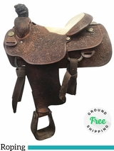 "PRICE REDUCED! 15"" Used Billy Cook Jody Ramer Wide Roper 2160 usbi3926 *Free Shipping*"