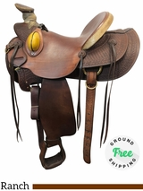 """SOLD 2018/09/30  PRICE REDUCED! 15"""" Used Billy Cook Wide Wade Ranch Saddle 2189 usbi4108 *Free Shipping*"""