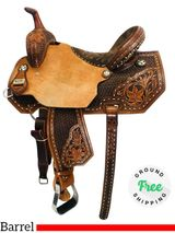 "PRICE REDUCED! 15"" Used Saddle Circle Y Barrel XP Silesia 2156 uscy4324 *Free Shipping*"
