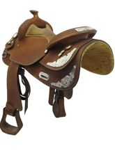 "PRICE REDUCED! 15"" Used Crates Wide Show Saddle 2344 uscr3550 *Free Shipping*"