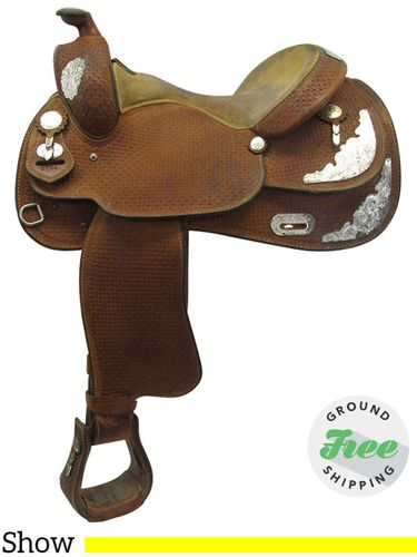 """PRICE REDUCED! 15"""" Used Crates Wide Show Saddle 2344 uscr3550 *Free Shipping*"""