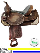 PRICE REDUCED! 15inch Used Dakota Custom 2212 Flex Trail & Show Saddle usdk4476 *Free Shipping*
