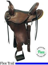 "SOLD 2019/02/26 LAYAWAY PRICE REDUCED! 15"" Used Dakota Flex Trail Saddle 213 usdk4312 *Free Shipping*"