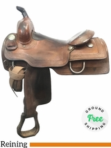 "PRICE REDUCED! 15"" Used Silver Mesa Medium Reining Saddle ussm3977 *Free Shipping*"