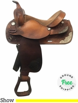 "PRICE REDUCED! 15"" Used Tex Tan Medium Show Saddle 08-1445N5 8-97-16216 ustt4033 *Free Shipping*"