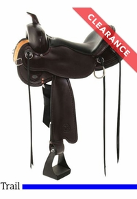 """15"""" Wide, Circle Y Blackfoot Flex2 Trail Saddle 2381, CLEARANCE"""