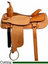 "** SALE **16"" to 17"" Billy Cook Classic Cutting Saddle 8942"