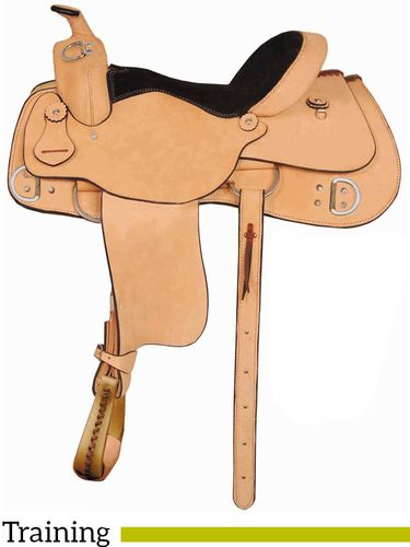 "16"" 17"" American Saddlery AJ Trainer Saddle 1986"
