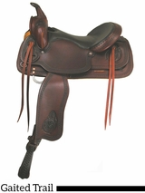 "16"" 17"" Big Horn Texas Best Del Rio Rider Trail Saddle, Gaited 950G"