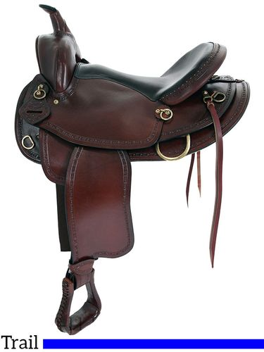 "16"" 17"" Big Horn Texas Best Hill Country Trail II Saddle 940FQH"