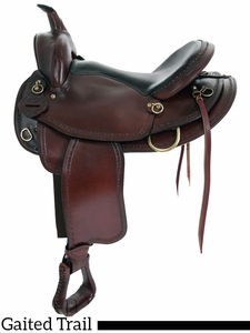 """16"""" 17"""" Big Horn Texas Best Hill Country Trail II Saddle, Gaited 940G"""