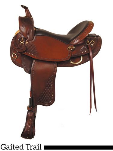 "16"" 17"" Big Horn Texas Best Hill Country Trail III Saddle, Gaited 938G"