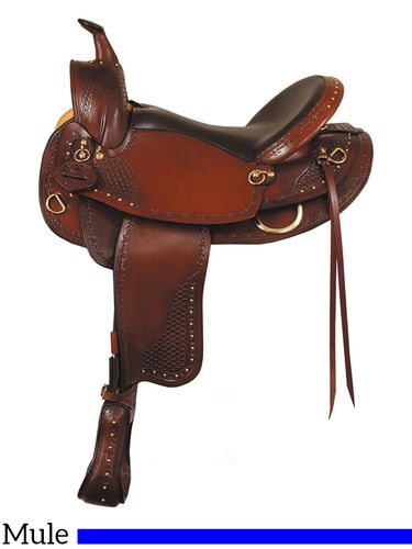 """16"""" 17"""" Big Horn Texas Best Hill Country Mule Trail III Saddle 938M"""