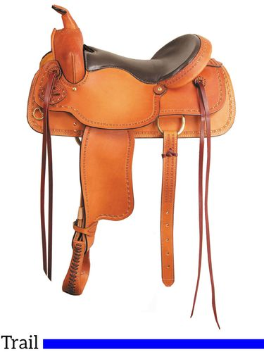 "16"" 17"" Big Horn Texas Best The San Saba Trail Saddle 951"
