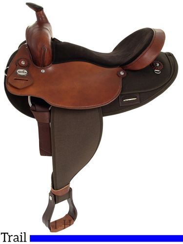 """16"""" Fabtron Extra Wide Saddle with Round Skirt 7186"""
