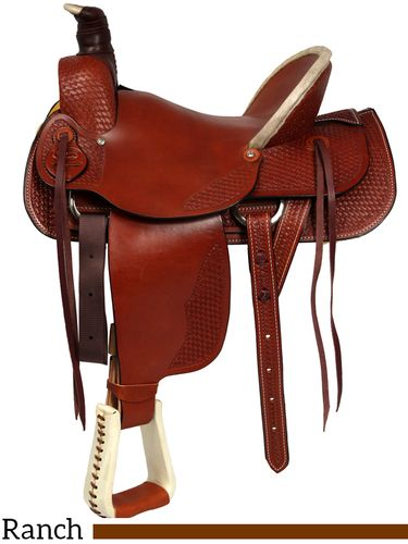 "15"" to 17"" Dakota Hard Seat Ranch A-Fork Saddle 209af"