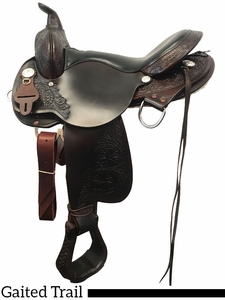 """** SALE **16"""" 17"""" High Horse by Circle Y Round Rock Gaited Trail Saddle 6870"""