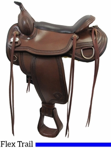 "17"" Tex Tan Montgomery Flex Trail Saddle 292TF481"