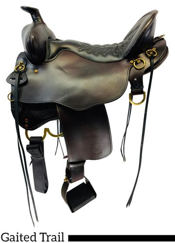 """SOLD 2020/11/24 17.5"""" Tucker Black Mountain Gaited Saddle 261, CLEARANCE"""