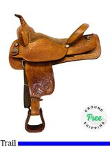 """16.5"""" Used Big Horn Trail Saddle 930 usbh4363 *Free Shipping*"""