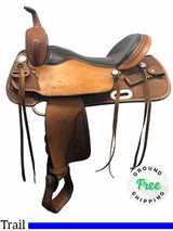 """16.5"""" Used Billy Cook Wide Trail Saddle 2536 usbi4155 *Free Shipping*"""