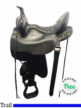 """PRICE REDUCED! 16.5"""" Used Tucker Wide Trail Saddle 257 Classic ustk4164 *Free Shipping*"""