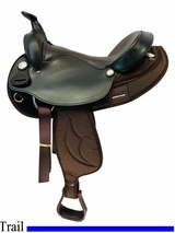 PRICE REDUCED! 16.5inch Big Horn Arabian Trail Saddle FLOOR MODEL 283 usbh4528 *Free Shipping*