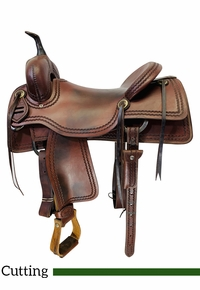 16.5Inch Used AD Signature Cutting Saddle by Bowden Leather BLC17142B *Free Shipping*