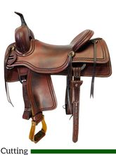 SOLD 2019/11/22  16.5Inch Used AD Signature Cutting Saddle by Bowden Leather BLC17142B *Free Shipping*