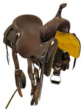 SOLD 2021/01/19  16.5Inch Used Cowboy Collection Cutting Saddle Custom *Free Shipping*