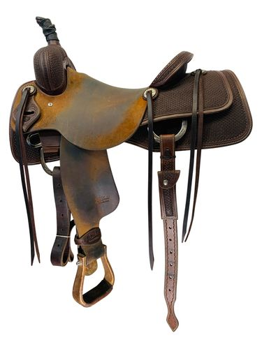 16.5Inch Used Jeff Smith Ranch Cutter Saddle Custom *Free Shipping*