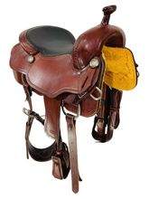 SOLD 2021/10/01  PRICE REDUCED! 16.5Inch Used Oak Brand Leather Ranch Cutting Saddle Custom by Ed Matheus, Oak Brand Saddlery *Free Shipping*