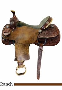 PRICE REDUCED! 16.5Inch Used Paul Turner Custom Ranch Cutter Saddle 8-06 *Free Shipping*
