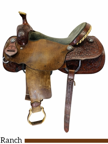 SOLD 2020/11/27  PRICE REDUCED! 16.5Inch Used Paul Turner Custom Ranch Cutter Saddle 8-06 *Free Shipping*