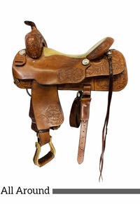 16.5Inch Used Price McLauchlin Maker All Around Arena Saddle Custom *Free Shipping*