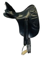 SOLD 2020/09/25  PRICE REDUCED! 16.5Inch Used RL Watson Dressage Saddle 596 *Free Shipping*