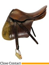 16.5Inch Used Stubben Close Contact Saddle Custom *Free Shipping*