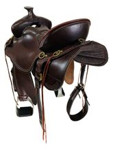 SOLD 2021/10/05  16.5Inch Used Tucker Big Bend Trail Saddle 293 *Free Shipping*