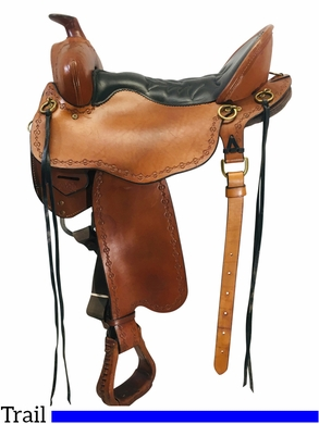 16.5Inch Used Tucker Black Mountain Trail Saddle 261 *Free Shipping*