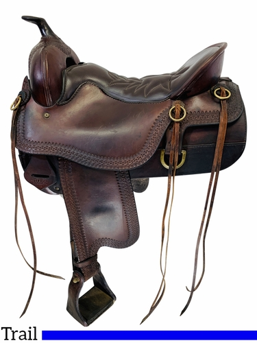 16.5Inch Used Tucker Cheyenne Frontier Trail Saddle 167 *Free Shipping*