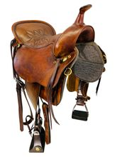 SOLD 2020/09/21 16.5Inch Used Tucker Cheyenne Trail Saddle 157 *Free Shipping*