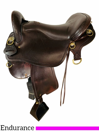SOLD 2021/08/11 16.5Inch Used Tucker Endurance Trail Saddle T59 *Free Shipping*