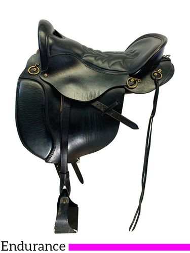 SOLD 2019/12/06  PRICE REDUCED! 16.5Inch Used Tucker Equitation Endurance Trail Saddle 149 *Free Shipping*