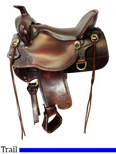 16.5Inch Used Tucker High Plains Trail Saddle T60 *Free Shipping*