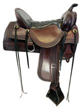 SOLD 2021/02/20 16.5Inch Used Tucker Old West Trail Saddle 277 *Free Shipping*