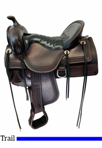 16.5Inch Used Tucker Old West Trail Saddle 277 *Free Shipping*