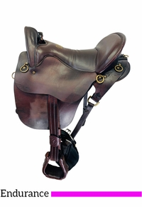 PRICE REDUCED! 16.5Inch Used Tucker River Plantation Endurance Saddle 146 *Free Shipping*